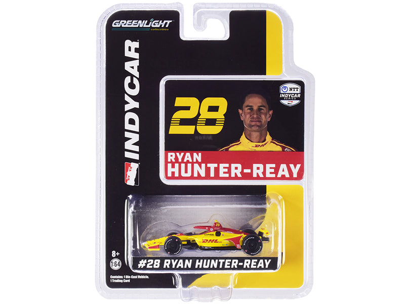 "Dallara IndyCar #28 Ryan Hunter-Reay \DHL"" Andretti Autosport \""NTT IndyCar Series\"" (2020) 1/64 Diecast Model Car by Greenlight"""