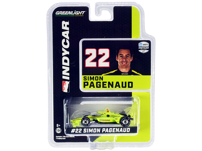 "Dallara IndyCar #22 Simon Pagenaud \Menards"" Team Penske \""NTT IndyCar Series\"" (2020) 1/64 Diecast Model Car by Greenlight"""