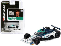 "Dallara IndyCar #66 Fernando Alonso \Ruoff Mortgage"" Arrow McLaren SP \""NTT IndyCar Series\"" (2020) 1/64 Diecast Model Car by Greenlight"""