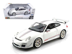 Porsche 911 GT3 RS 4.0 White 1/18 Diecast Car Model by Bburago
