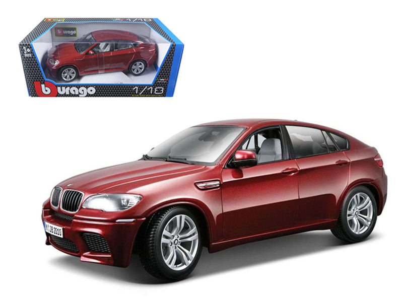 2011 2012 BMW X6M Dark Red 1/18 Diecast Car Model by Bburago
