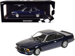 1982 BMW 635 CSi Dark Blue Metallic Limited Edition to 504 pieces Worldwide 1/18 Diecast Model Car by Minichamps