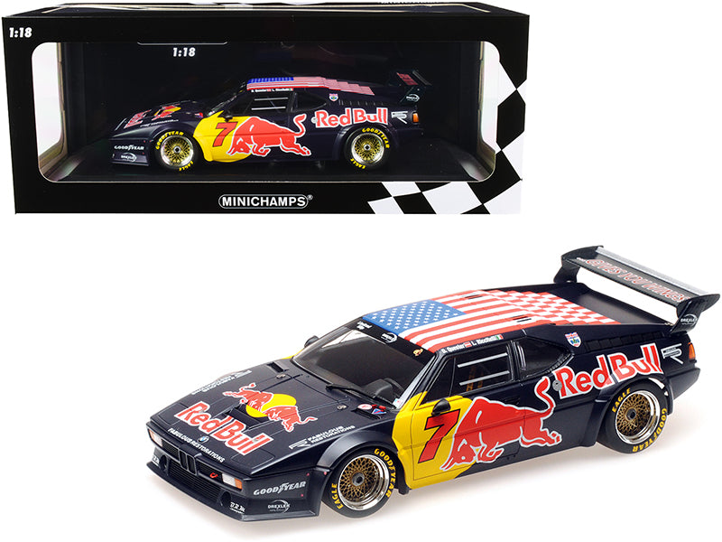 "BMW M1 Gr. B #7 \Red Bull"" Dieter Quester - Luca Riccitelli Class Winners HRS Daytona Classic 24H (2017) Limited Edition to 300 pieces Worldwide 1/18 Diecast Model Car by Minichamps"""