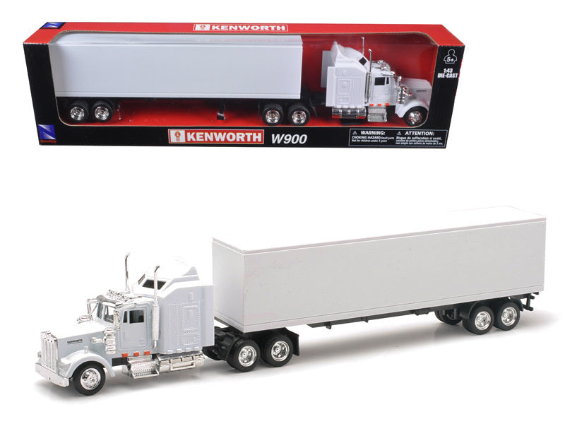 Kenworth W900 Plain White Unmarked 1/43 Model by New Ray