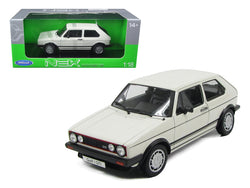 Volkswagen Golf 1 GTI White 1/18 Diecast Model Car by Welly