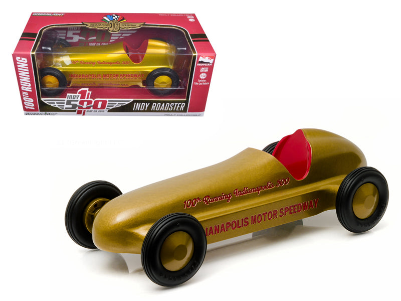 "Vintage Indy Roadster 100th Running of the Indianapolis 500 Special Gold Edition \Hobby Exclusive"" 1/24 Diecast Model Car by Greenlight"""