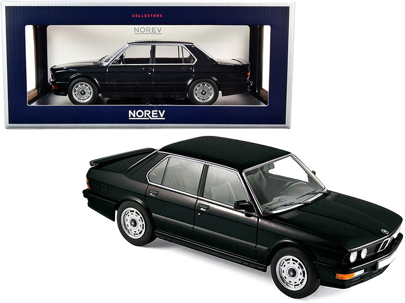 1986 BMW M535i Black Metallic 1/18 Diecast Model Car by Norev