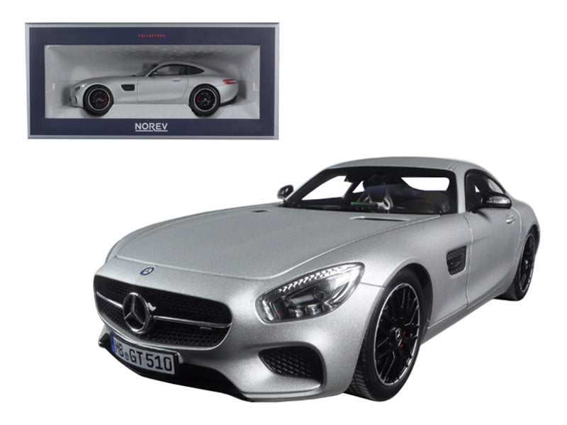 2015 Mercedes AMG GT Silver 1/18 Diecast Model Car by Norev