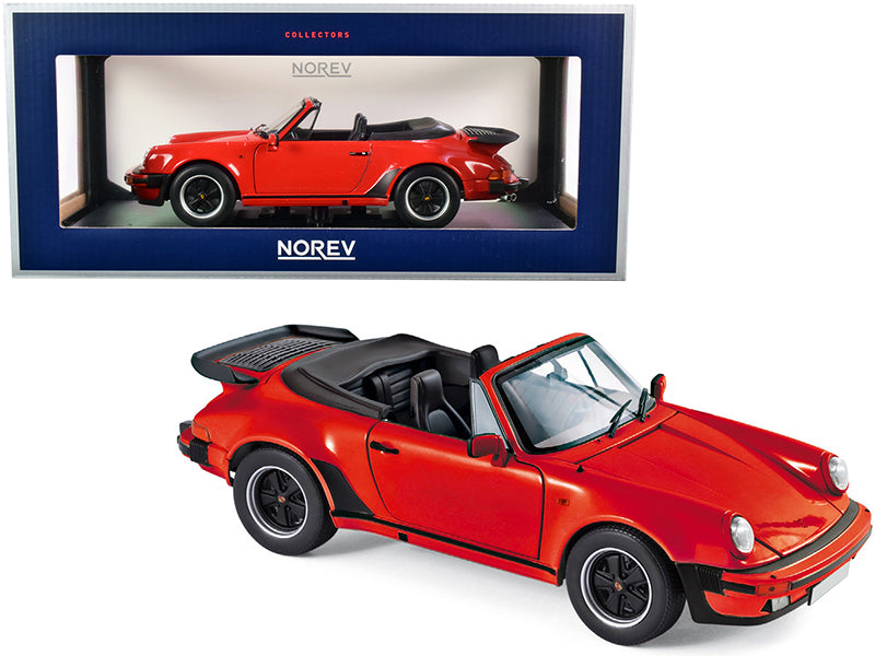 1987 Porsche 911 Turbo Cabriolet Red 1/18 Diecast Model Car by Norev