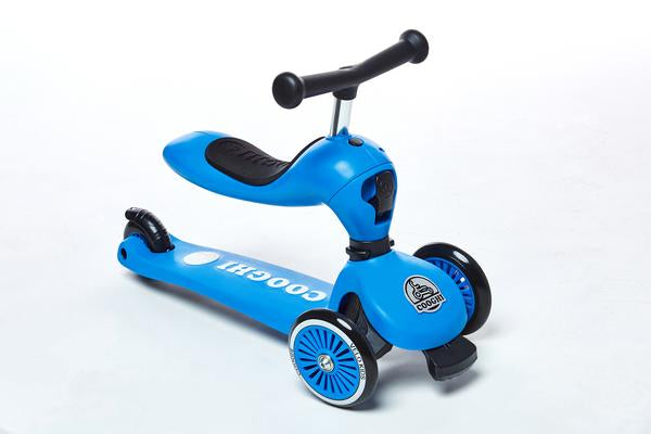 2-in-1 Kids 3 Wheel Height Adjustable Scooter Ride On Toys from 1-5 Years and Up