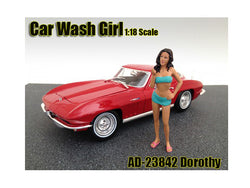 Car Wash Girl Dorothy Figurine for 1/18 Scale Models by American Diorama