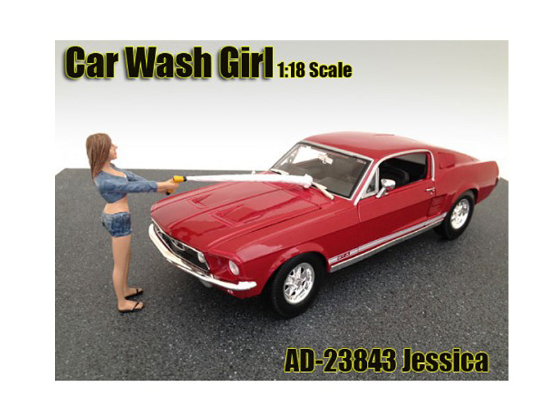 Car Wash Girl Jessica Figurine for 1/18 Scale Models by American Diorama