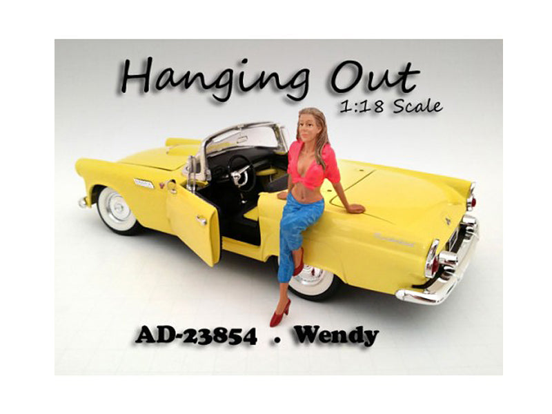 "\Hanging Out"" Wendy Figurine for 1/18 Scale Models by American Diorama"""