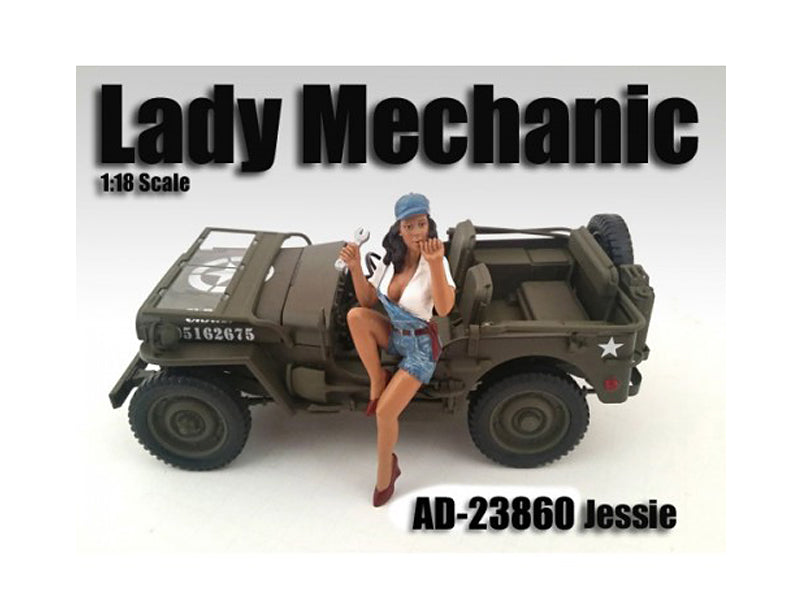 Lady Mechanic Jessie Figure for 1/18 Scale Models by American Diorama