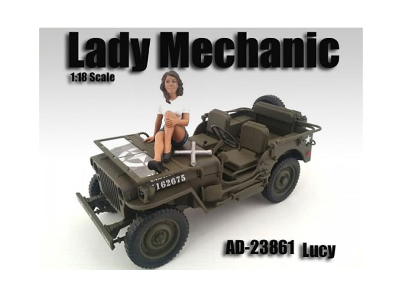 Lady Mechanic Lucy Figure For 1:18 Scale Models by American Diorama