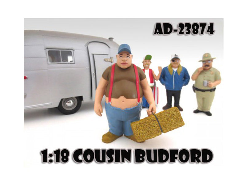 "Cousin Budford \Trailer Park"" Figure For 1:18 Scale Diecast Model Cars by American Diorama"""