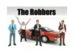 "\The Robbers"" 4 Piece Figure Set For 1:18 Scale Models by American Diorama"""