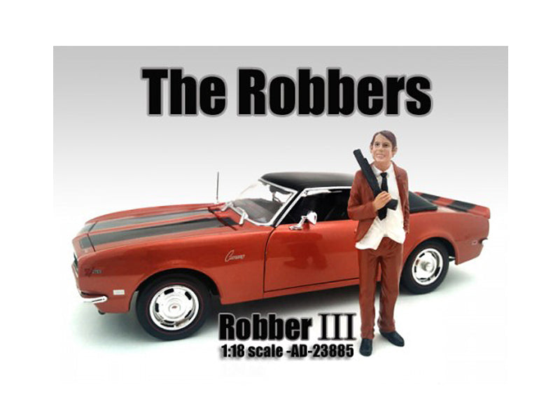 "\The Robbers"" Robber III Figure For 1:18 Scale Models by American Diorama"""