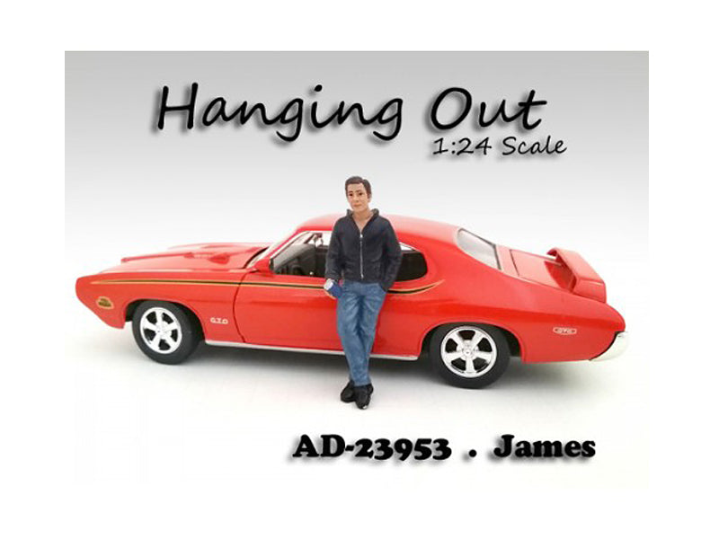 "\Hanging Out"" James Figurine / Figure For 1:24 Scale Models by American Diorama"""