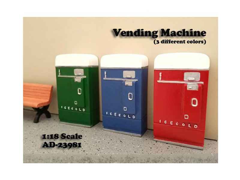 1 Piece Vending Machine Accessory Diorama Green For 1:18 Scale Models by American Diorama