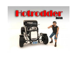 "\Hotrodders"" Derek Figure For 1:18 Scale Models by American Diorama"""