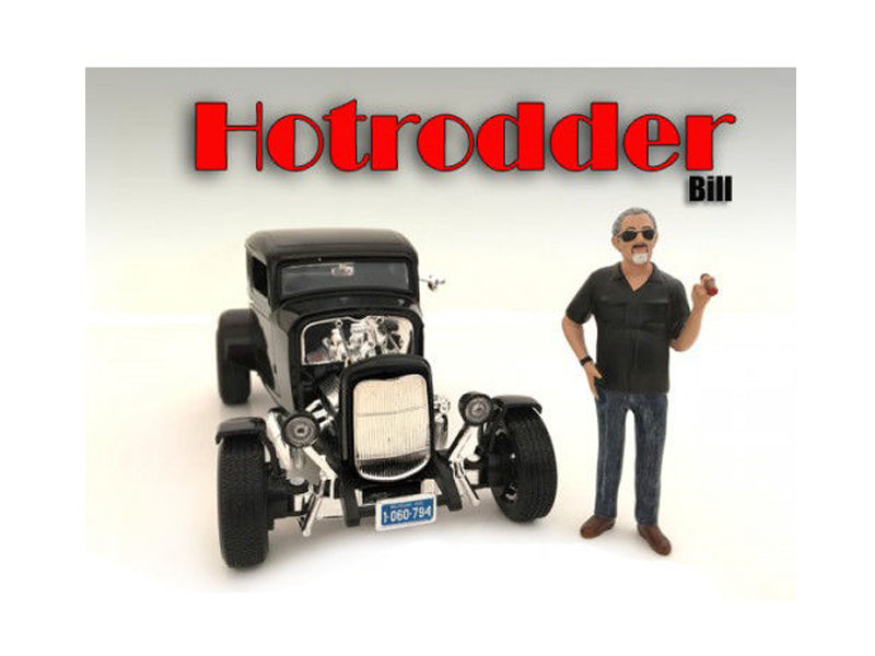 "\Hotrodders"" Bill Figure For 1:24 Scale Models by American Diorama"""