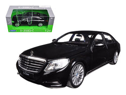 Mercedes Benz S Class Black 1/24-1/27 Diecast Model Car by Welly