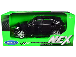 "Porsche Cayenne Turbo Black with Silver Wheels \NEX Models"" 1/24 Diecast Model Car by Welly"""