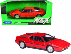 "BMW M1 Coupe Red \NEX Models"" 1/24 Diecast Model Car by Welly"""