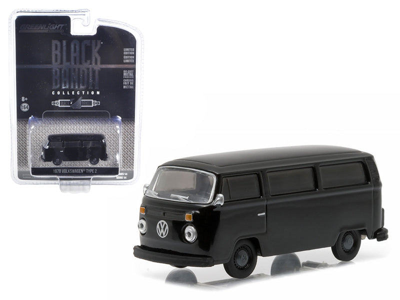 1978 Volkswagen Type 2 Bus Black Bandit 1/64 Diecast Model Car by Greenlight