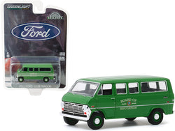 "1970 Ford Club Wagon Van Green \Board of Education"" \""Hobby Exclusive\"" 1/64 Diecast Model by Greenlight"""