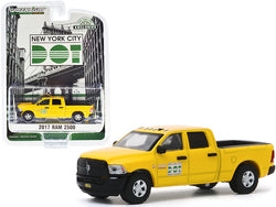 "2017 RAM 2500 Pickup Truck Yellow \New York City DOT - Brooklyn Street Maintenance"" \""Hobby Exclusive\"" 1/64 Diecast Model Car by Greenlight"""