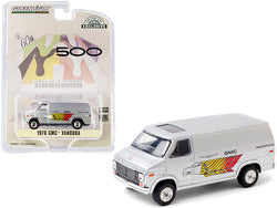 "1976 GMC Vandura Silver \GMC Transportation"" 60th Annual Indianapolis 500 Mile Race \""Hobby Exclusive\"" 1/64 Diecast Model Car by Greenlight"""
