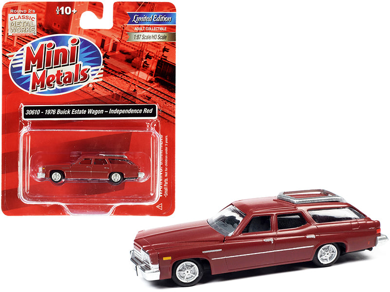 1976 Buick Estate Wagon Independence Red 1/87 (HO) Scale Model Car by Classic Metal Works