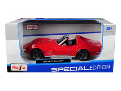 1970 Chevrolet Corvette Red 1/24 Diecast Model Car by Maisto