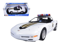 Chevrolet Corvette C5 Z06 Police 1/18 Diecast Model Car by Maisto