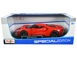 "2017 Ford GT Red with Black Wheels \Special Edition"" 1/18 Diecast Model Car by Maisto"""