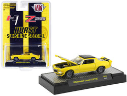 "1970 Chevrolet Camaro Z/28 RS \Hurst Sunshine Special"" Yellow with Black Stripes Limited Edition to 6050 pieces Worldwide 1/64 Diecast Model Car by M2 Machines"""