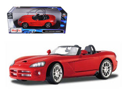 2003 Dodge Viper SRT-10 Roadster Red 1/18 Diecast Model Car by Maisto