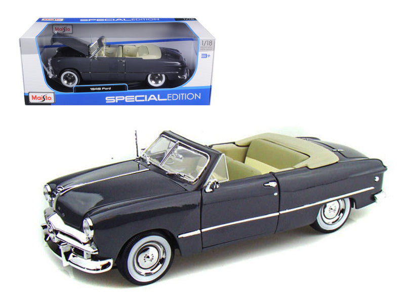 1949 Ford Convertible Gray 1/18 Diecast Model Car by Maisto