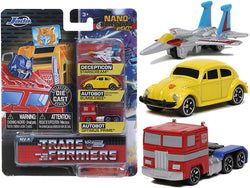 "\Transformers"" 3 piece Set Release 2 \""Nano Hollywood Rides\"" Diecast Models by Jada"""
