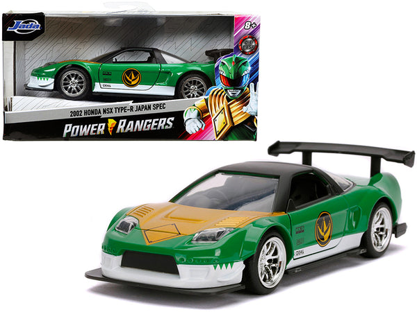 "2002 Honda NSX Type-R Japan Spec Green Ranger \Power Rangers"" 1/32 Diecast Model Car by Jada"""