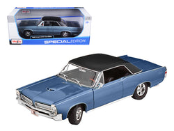 1965 Pontiac GTO Hurst Blue with Black Top 1/18 Diecast Model Car by Maisto