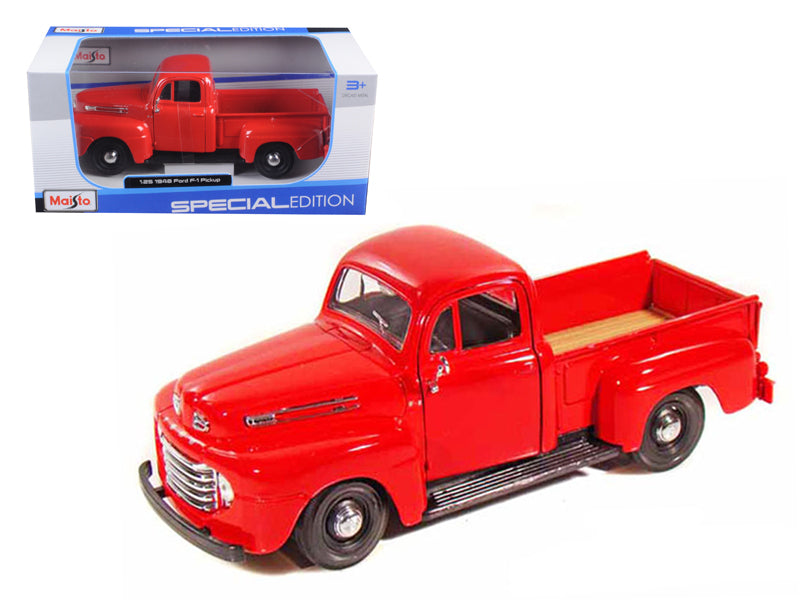 1948 Ford F-1 Pickup Truck Red 1/25 Diecast Model Car by Maisto
