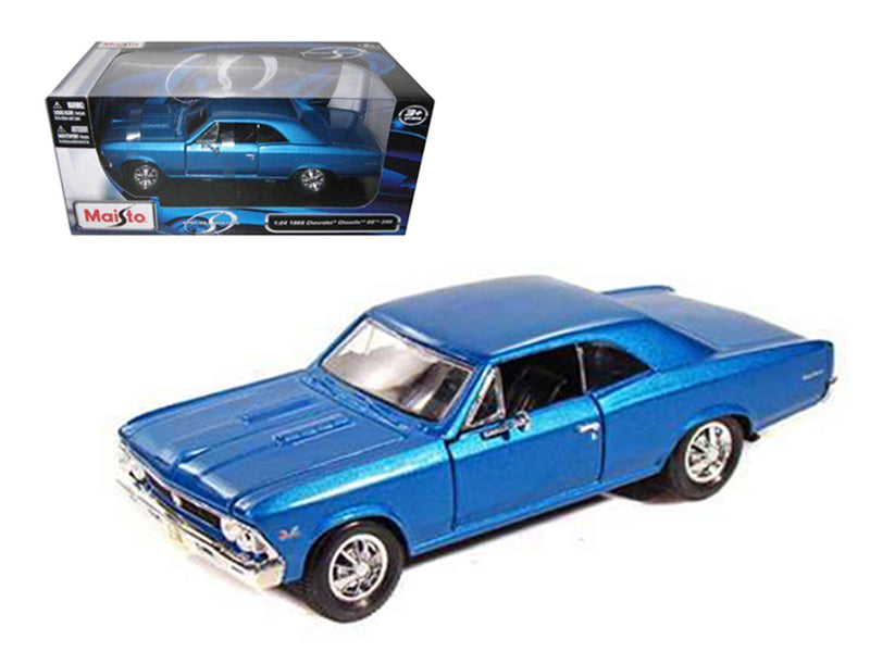 1966 Chevrolet Chevelle SS 396 Blue Metallic 1/24 Diecast Model Car by Maisto