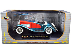 1935 Duesenberg SSJ Convertible Blue and Red 1/32 Diecast Model Car by Signature Models