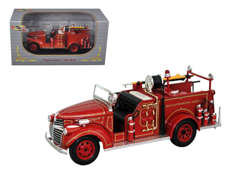 1941 GMC Fire Engine Truck Red 1/32 Diecast Model Car by Signature Models