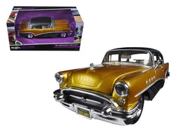 "1955 Buick Century Gold/Black \Outlaws"" 1/26 Diecast Model Car by Maisto"""