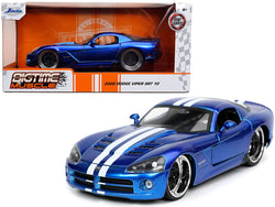 2008 Dodge Viper SRT 10 Candy Blue with White Stripes