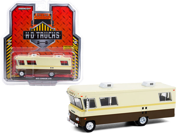 "1972 Condor II RV Beige and Brown \H.D. Trucks"" Series 20 1/64 Diecast Model by Greenlight"""